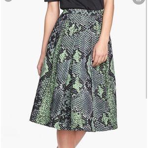 Pink tartan jacquard snake skirt